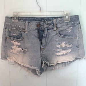 American Eagle distressed jean shorts SIZE 4